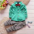 New 2016 boys Bow new spring autumn leisure long sleeve children Baby sets