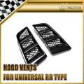 EPR Car Styling Universal RR Type Hood Vents Scoop Bonnet Air Vents Air Flow Vent Duct