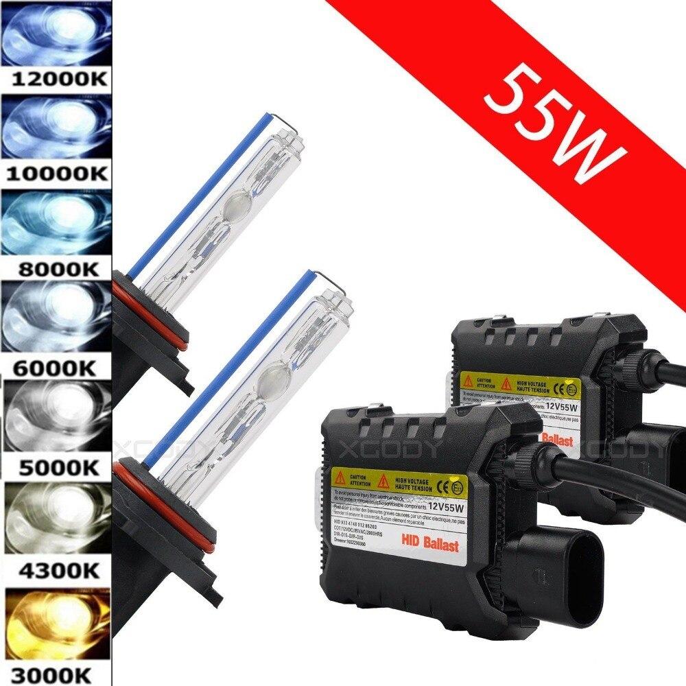55W 12V HID Xenon H7 Light Conversion Kit Headlight Bulbs For Car H3 H1 9006 9005 H4 H11 H8 H9 H10 H13 4300K 6000K 8000K 12000K caterham 7 csr