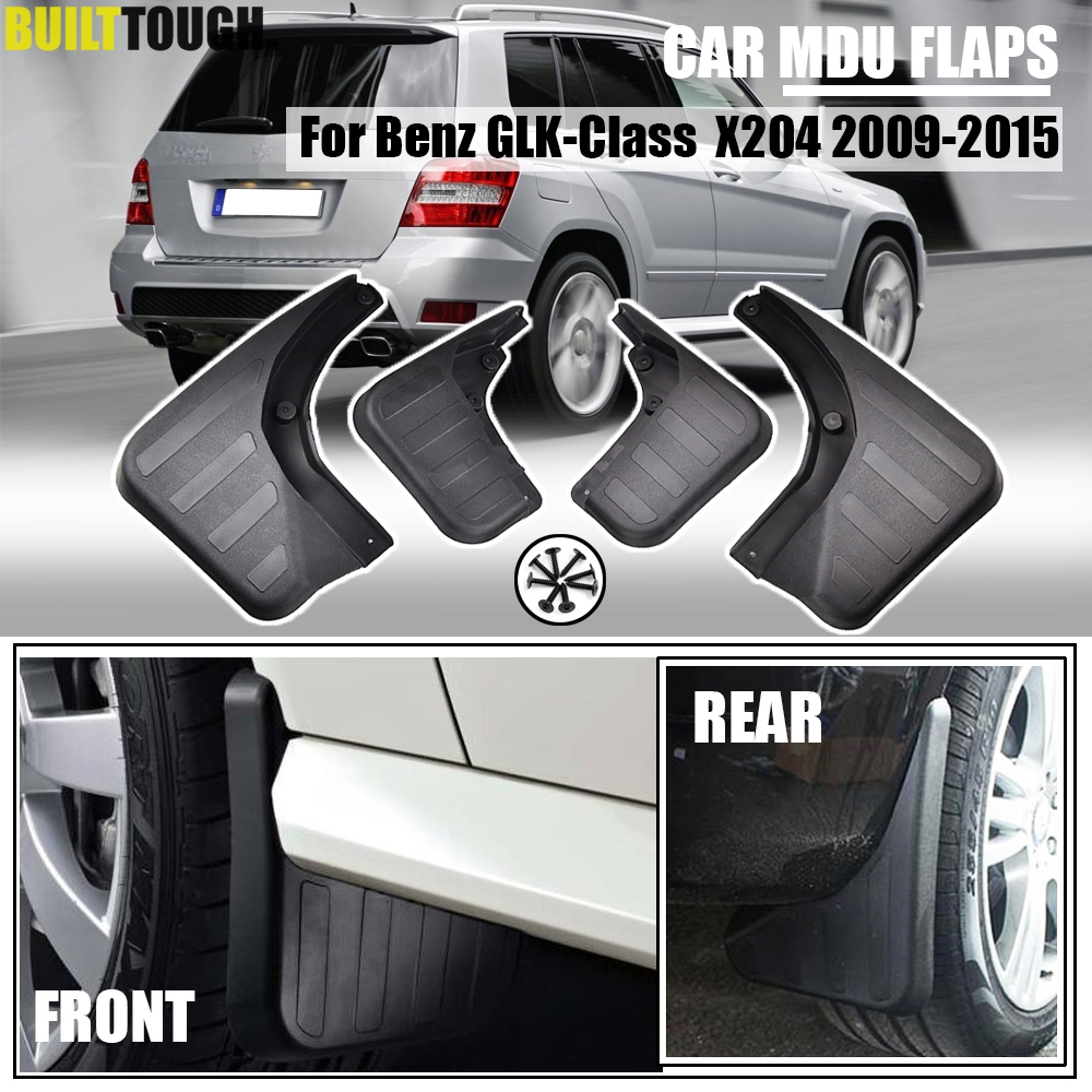 Set Car Mud Flaps For Benz GLK Class X204 2009 2015 W O Running Board Mudflaps