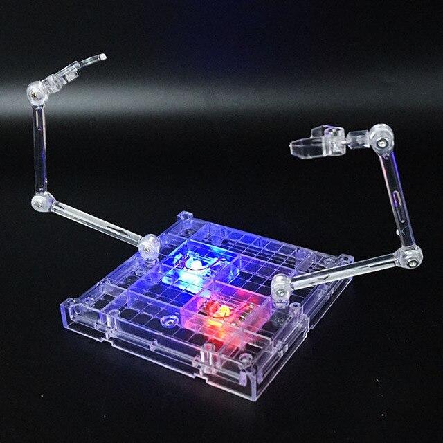 1set 18*16cm Stage Act 2 arms Bracket Model Soul Bracket with LED Stand For gundam plastic model Robot Saint Seiya Toy Figure