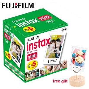 Image 1 - 50 feuilles Fujifilm Instax Mini Film blanc bord papier Photo pour Instax Mini LiPlay 11 9 8 70 90 LINK caméra à Film instantané