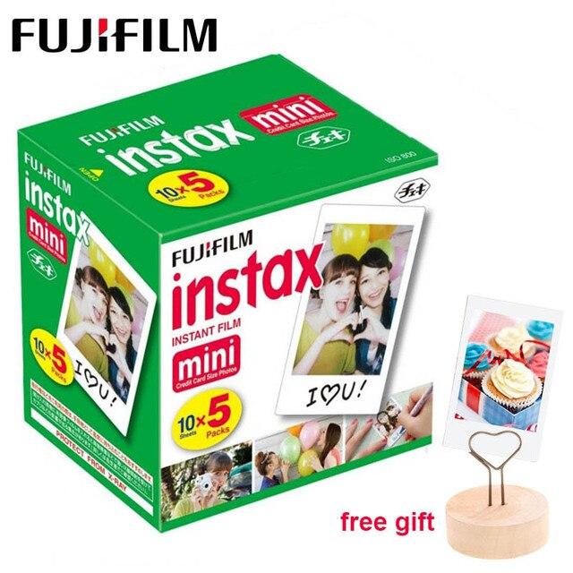 50 feuilles Fujifilm Instax Mini Film blanc bord papier Photo pour Instax Mini LiPlay 11 9 8 70 90 LINK caméra à Film instantané