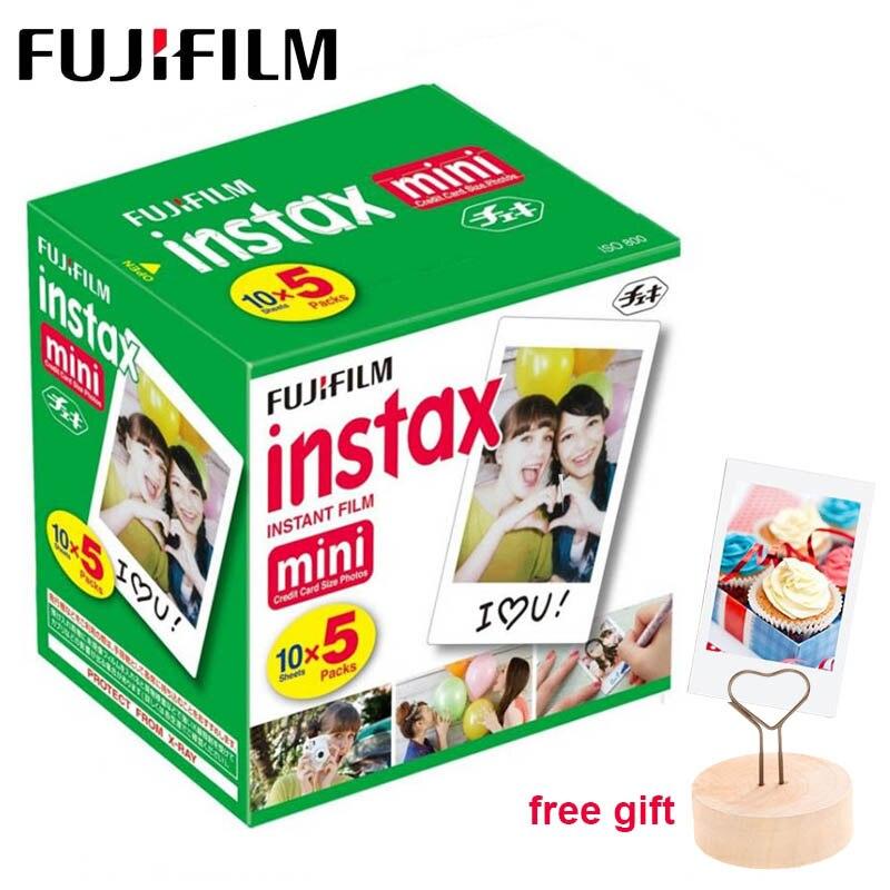 50 feuilles Fujifilm Instax Mini 9 Film blanc bord papier Photo pour Polaroid caméra Film Mini 8 7s 70 90 25 55 SP-2 appareil Photo instantané
