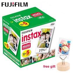 50 hojas Fujifilm Instax Mini 9 película borde blanco papel fotográfico para cámara Polaroid Mini 8 7s 70 90 25 55 SP-2 cámara instantánea
