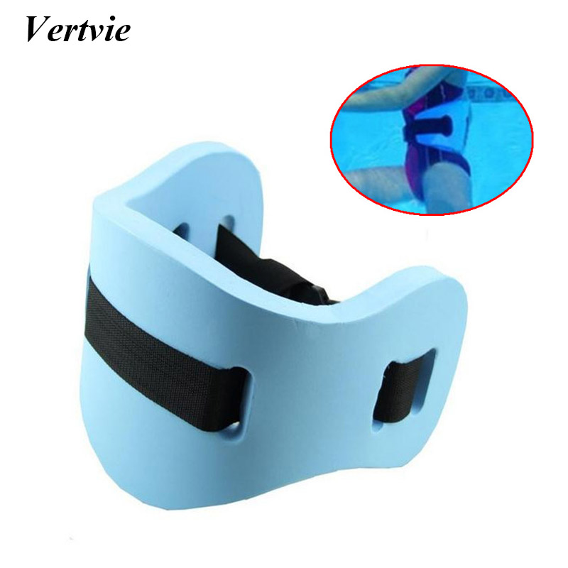 Vertvie EVA Swim Ring 62x22x2.5cm Adult Children Board Mattress Adjustable Back Foam Swimming Learner Belted Waist Float Board