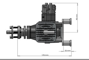 Image 5 - DLE60 60CC גז מנוע עבור RC מטוס כנף קבועה דגם כפול שבץ שני פליטה רוח קר ידיים להתחיל לאחר שבץ