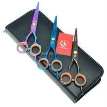5.5 pulgadas 15.5 cm barberos tijeras peluquería tijeras de pelo de corte de pelo corte tijeras jp440c 3 colores opcionales 1 pcs ha0077