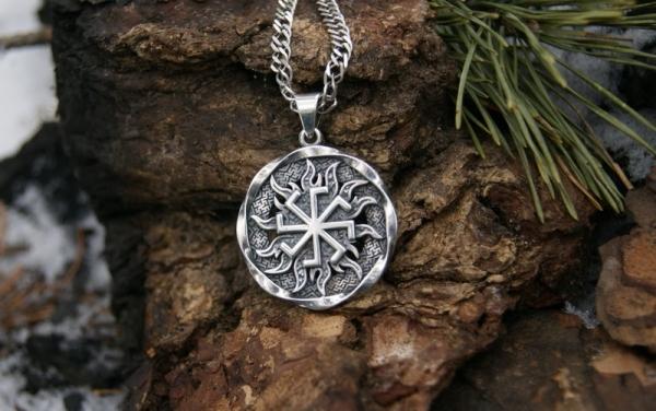 10pcs Kolovrat pendant -Slavic symbol of the sun.Ancient slavic talisman pendant sun Wheel men necklace