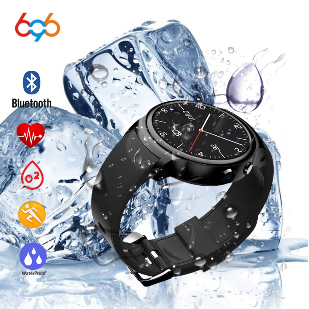 696 Smart Watch i3 RAM 2GB Heart Rate Sleep Fitness Tracker Smartwatch Android 5.1 3G WIFI GPS Monitor For Android IOS Phone
