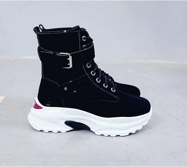 Chaussures Haute Plat Les Bottes 3 Sauvage Nouveau 2018 Pour 2 Femmes Plus Designer Épais 1 De Aider Fond Velours Noir wTOkilZXPu