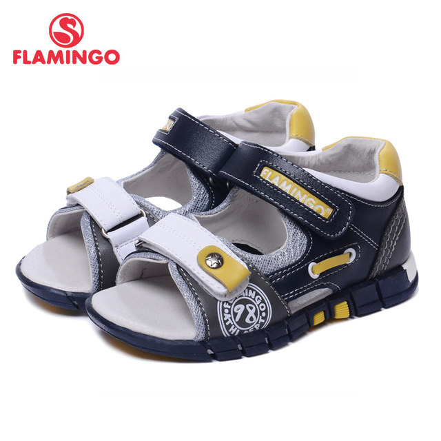 FLAMINGO famous brand 2018 New Arrival Spring & Summer Kids Fashion High Quality sandals for boys 61-XS166
