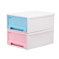 1pcs Single Layer Plastic Drawer Storage Office Cabinet Box Organizer Solid Toys Shoes Storage Box Case Combined Drawer DQ9004