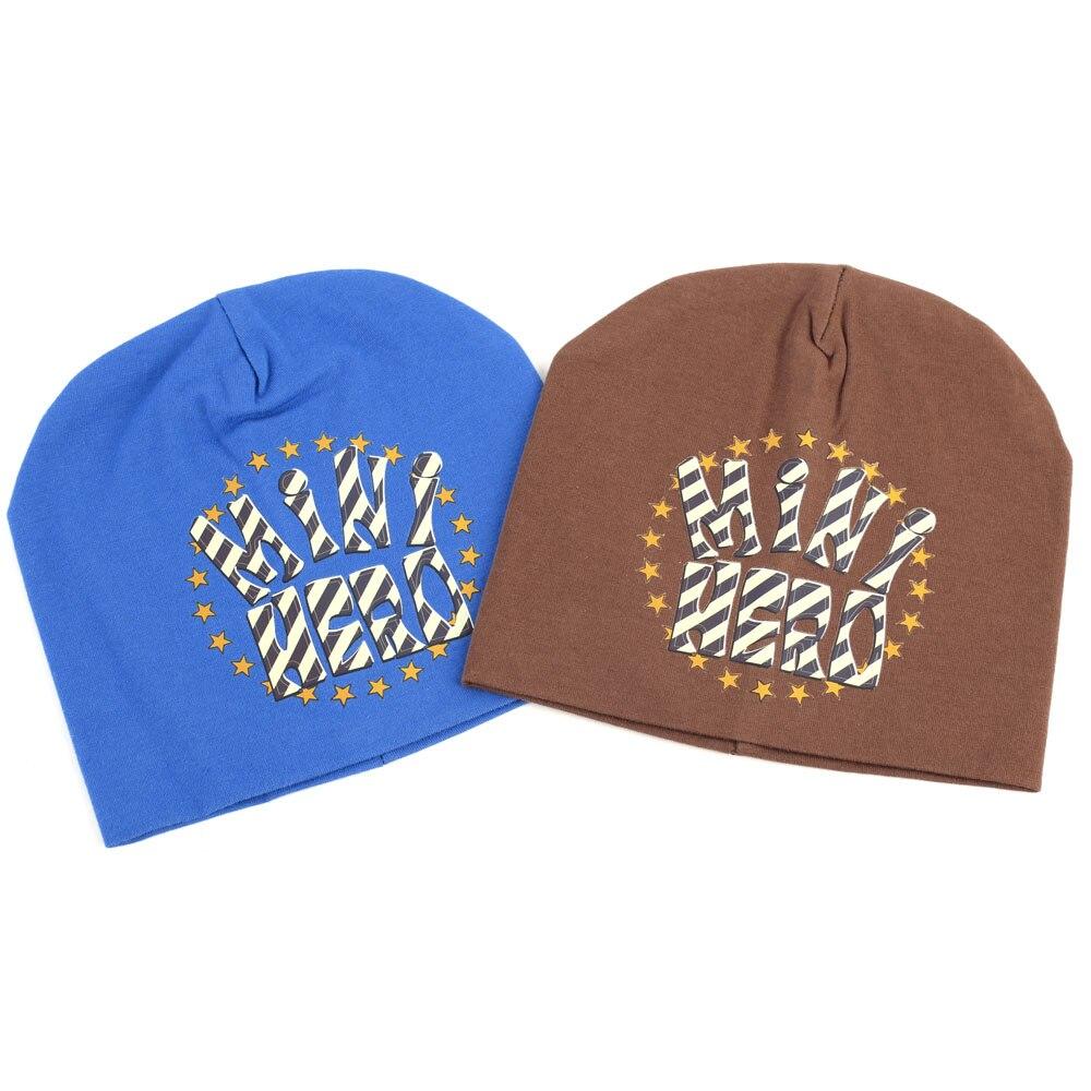 bddd22279a5 Geebro  MINI HERO  Beanies For Baby Autumn Fashion Star Print Hats for  Girls Newborn Baby Boys Plain Flat Cotton Beanie Cap-in Skullies   Beanies  from ...
