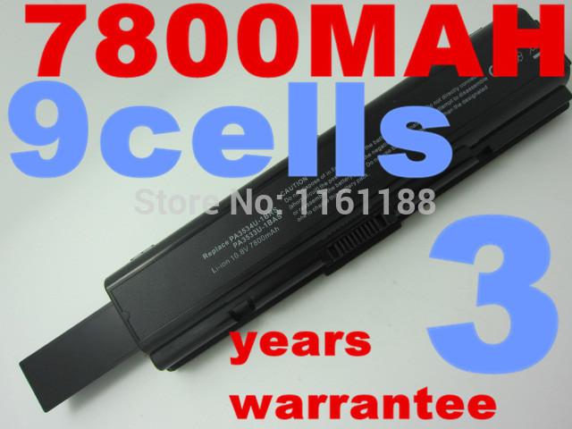 7800 mah batería para toshiba pa3533u-1bas pa3534u-1bas pa3534u-1brs satellite a200 a205 a210 a215 a300 l300 l450d l500 a500