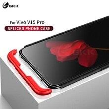 GKK 3 in 1 Case for Vivo V15 Pro Case 360 Degree Full Protection Hard PC Phone Back Cover for Vivo S1 Pro Case Matte Funda Coque gkk 3 in 1 case for vivo y17 v17neo cover y15 case 360 degree full protection hard pc phone back cover for vivo y3 z5 case matte