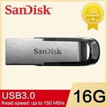 Двойной Флеш-накопитель SanDisk USB 3,0 Usb флеш-накопитель 32 Гб 64 Гб 16 Гб usb-носитель ручка высокая Скорость 150 МБ/с. USB3.0 CZ73 флеш-накопителей и cle usb c