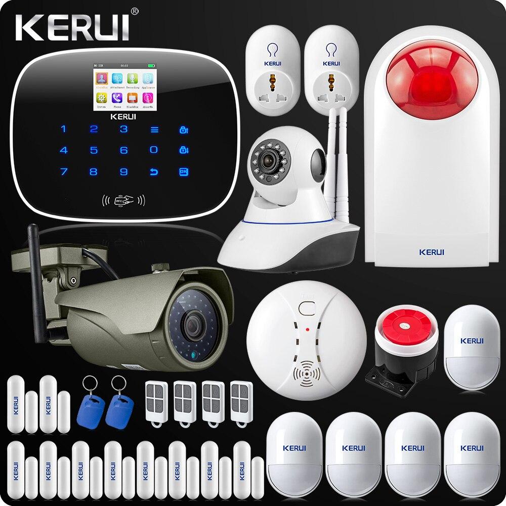 Kerui APP Wireless GSM Alarm System TFT Color Display Autodial Burglar Intruder Security Alarm Wireless IP