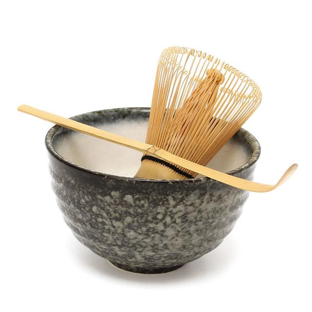 Brand New 3pcs sets Tea Ceremony Matcha Ceramic Tea Bowl Bamboo Tea Scoop Matcha Whisk Japanese Teaware Tea Tool 4 Style