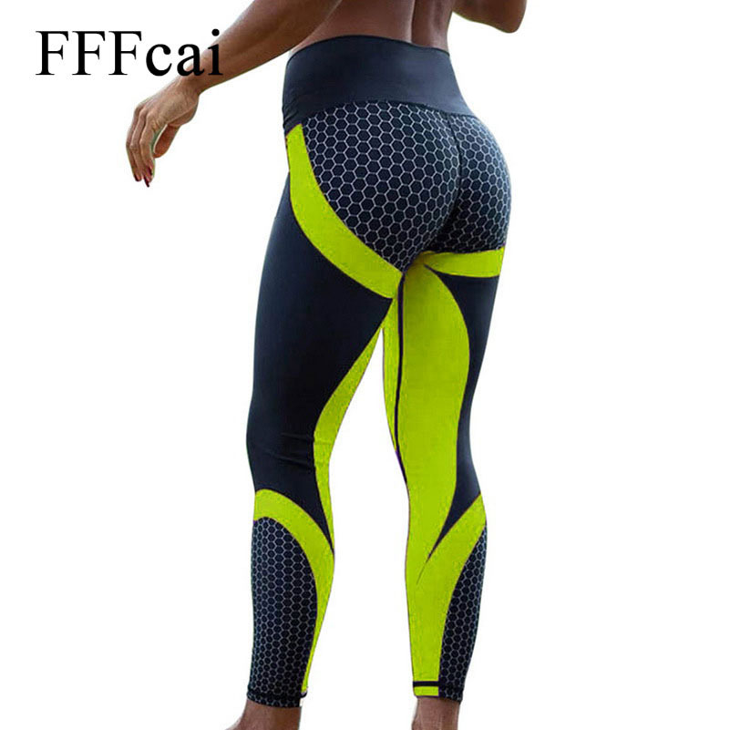 10 colors  Fitness Sport leggings Women Mesh Print High Waist Legins Femme Girls Workout Yoga Pants Push Up Elastic Slim Pants