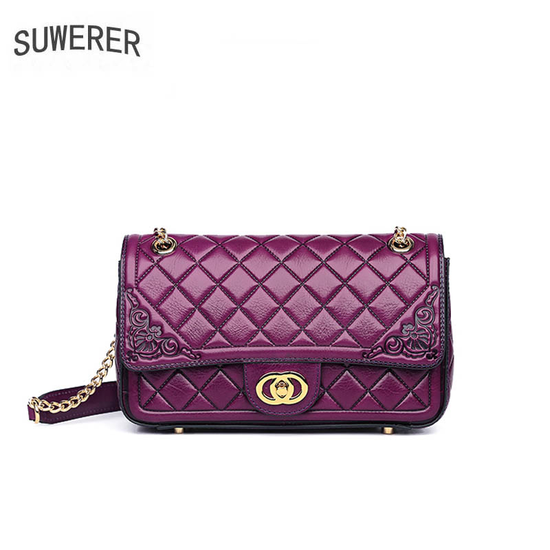 2019 New quality Luxury women genuine leather bag brands top cowhide embossing bag fashion Chain bag women leather shoulder bag2019 New quality Luxury women genuine leather bag brands top cowhide embossing bag fashion Chain bag women leather shoulder bag