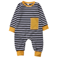 Toddler Infant Baby Boy Girl Romper Autumn Long Sleeve Striped Pocket Cotton Romper Jumpsuit Baby Clothes Outfits Baby Romper
