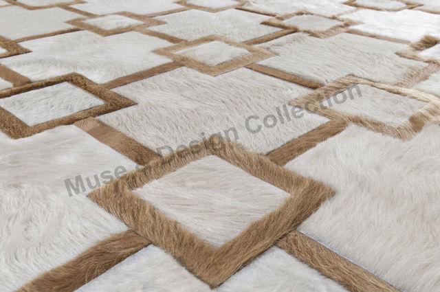 High Quality Design 100% Genuine Leather Patchwork Cowhide Rug Home Decor  Carpet Bedroom Living Room