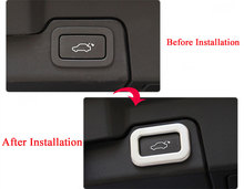 цена на Fit For Land Rover Discovery 5 LR5 Range Rover Evoque Vogue Sport Car-Styling ABS Electric Tail Door Button Frame Trim Sticker