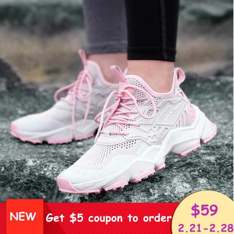 Rax Women Hiking Shoes Breathable Outdoor Sports Sneakers for Women Lightweight Mountain Shoes 2019 SS New