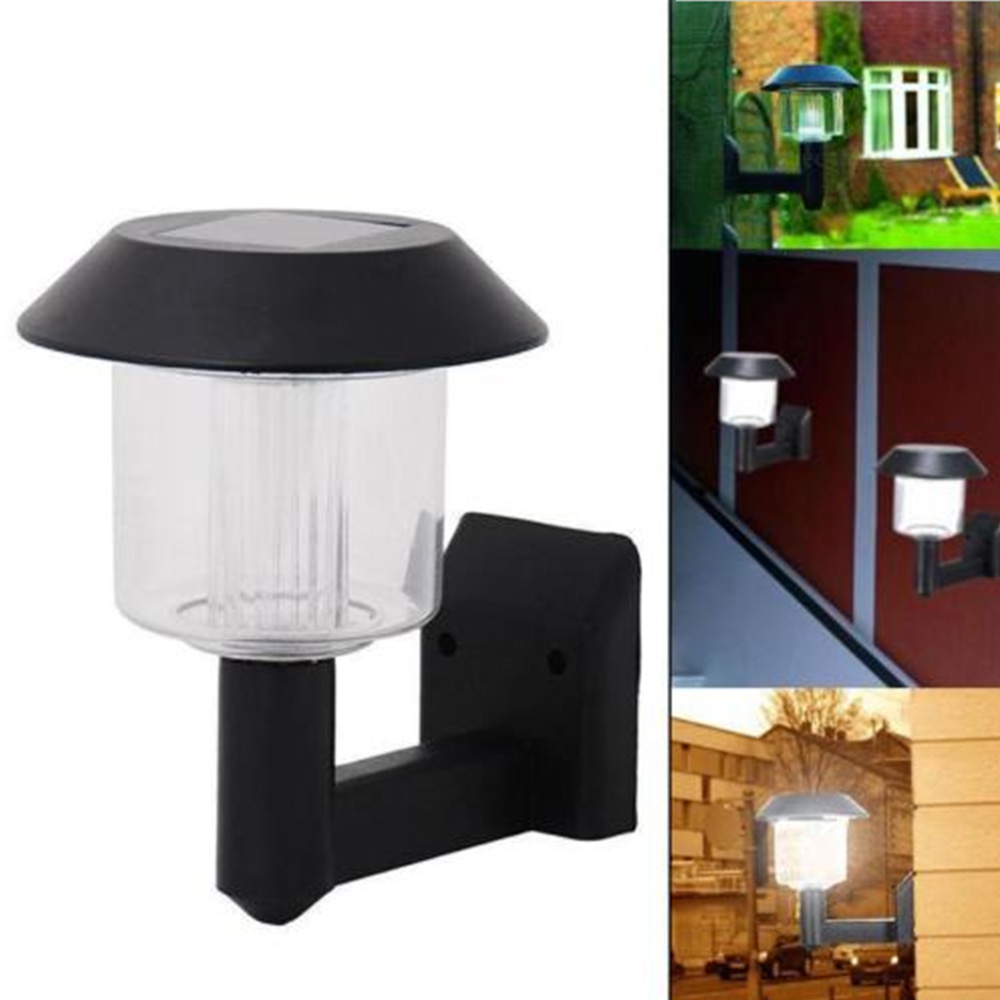 Solar Power Led Wall Light Auto Sensor Outdoor Garden Yard Landscape Fence Lamp