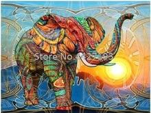 Elephant oil painting full diamond embroidery bead patterns square diamond painting Mosaic rhinestones needlework
