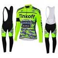 Tinkoffing Pro Ciclismo Jersey conjunto de manga larga transpirable MTB Ropa de bicicleta Ropa de Ciclismo Ropa Maillot Ciclismo