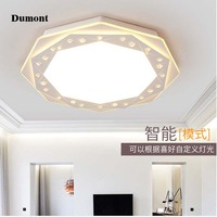 The Simplicity Of Modern Crystal Lamp Study Geometric Ceiling Lamps Creative Led Bedroom Lamps Lighting Room