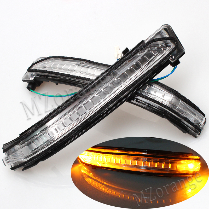 led Rear view Mirror light Turn Signal font b Lamp b font For Nissan X Trail