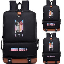 Youpop KPOP BTS Bangtan Boys Album Love Yourself Answer JIMIN RM Photo Nylon School Bags Jewelry Admission Package Cosmetic B026(China)