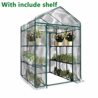 With Iron Stand PVC Warm Garden Tier Mini Household Plant Greenhouse Cover Waterproof anti UV Protect Garden Flowers DHL EMS