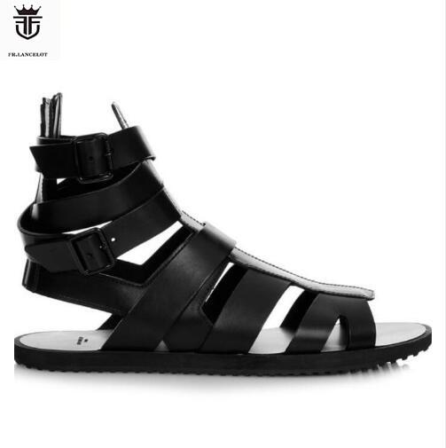 FR.LANCELOT 2019 men sandals flat heel summer gladiator ...