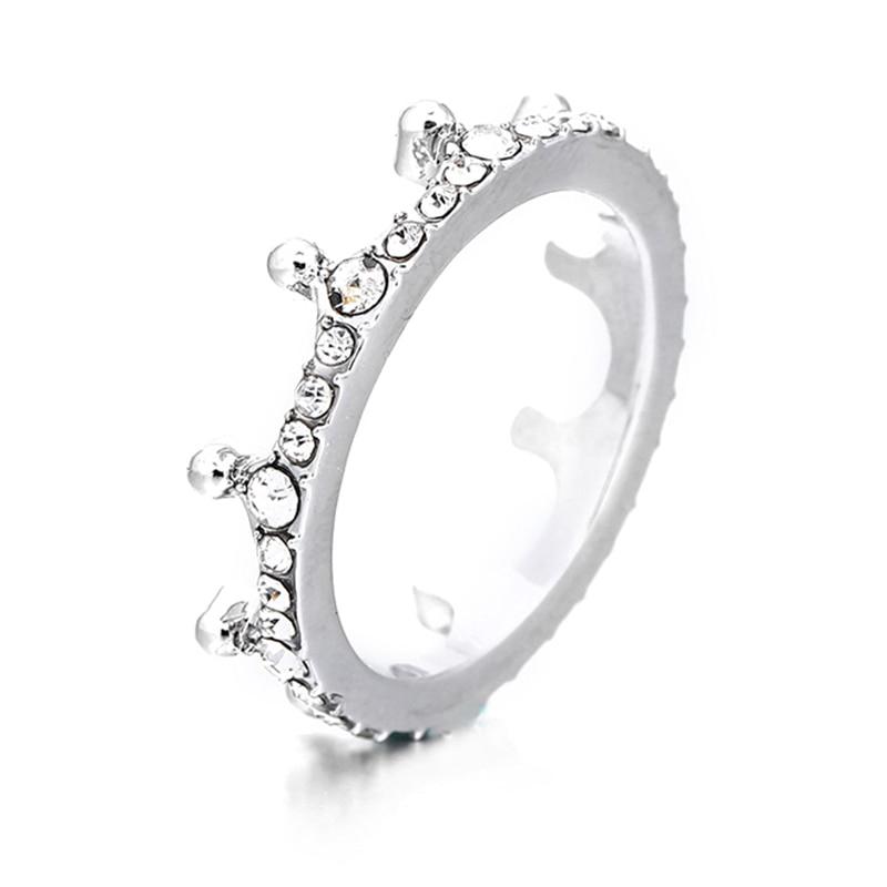 Модные плетеные кольца с кристаллами для женщин, золото/серебро/розовое золото, тонкое женское кольцо, вечерние ювелирные изделия для помолвки - Цвет основного камня: RG012