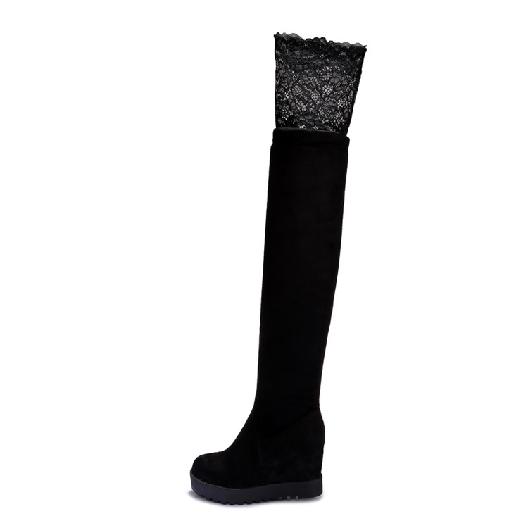 2016 Botas Mujer Big Size 34-43 brand Design sexly Over The Knee Boots Thick Sole Platform Slim Long Autumn Winter X25-26