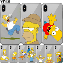 VIYISI For Apple iPhone 7 5 5S 6 6s 8 Plus X SE Case Cute cartoon Soft silicone for apple iphone x se 5 6S 7 8 plus Phone Cover цена и фото