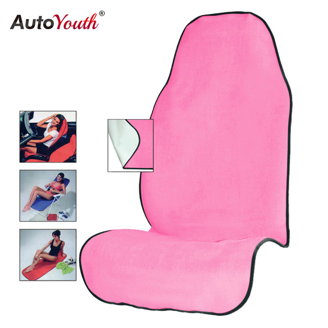 AUTOYOUTH Pink Towel Seat Cushion Universal Fit Car Protector Pet Mat Dog Cover