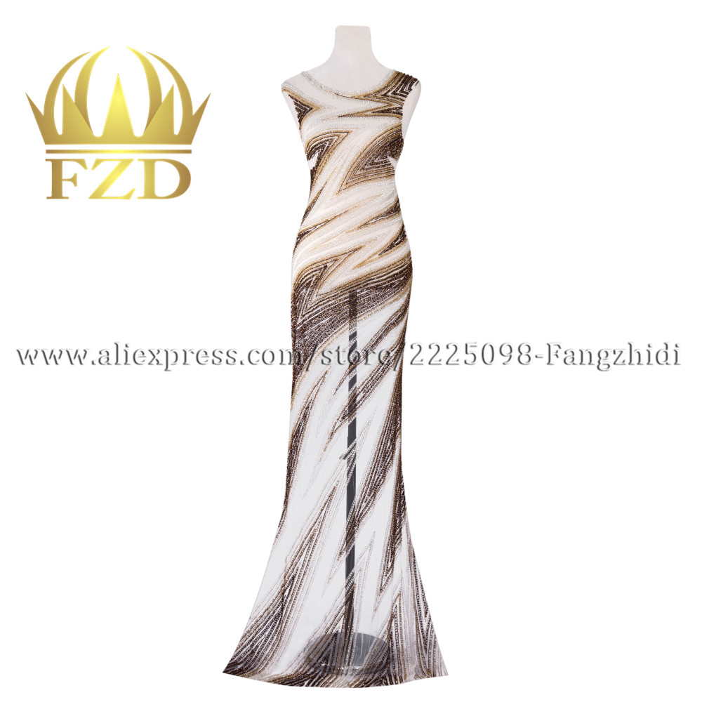 FANGZHIDI Fashion Evening Dress Large Size Hand made Rhinestone Patches For Wedding Dress Ball Gown DIY