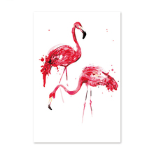 Diy digital oil painting by numbers drawing hand painted picture Wall Decor pictures two flamingos flamingos