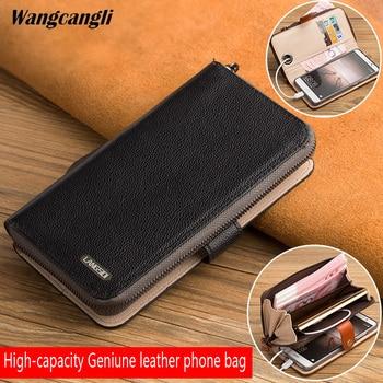 wangcangli Brand Genuine Leather phone case for iPhone 7 Handmade custom flip phone case for Oneplus 3t A3010 5 5t 6 case