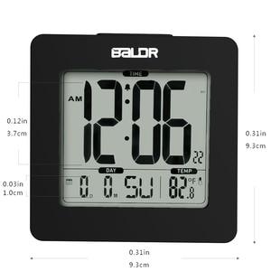 Image 3 - BALDR ميزان الحرارة الرقمي غفوة ساعة تنبيه الأزرق الخلفية LCD الجدول التقويم ساعة الوقت مكتب داخلي درجة الحرارة جهاز قياس الاستشعار