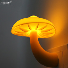 EU or US Mini Cartoon Shape Night Led Lamp energy saving Light Children Gift for Kids baby Bedroom Mushroom Duck