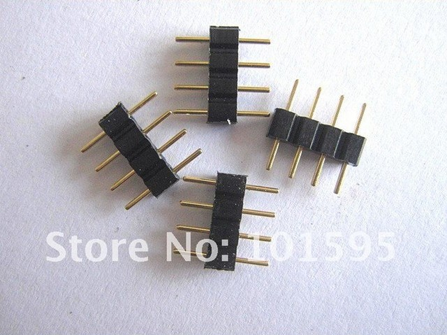 4 Pins RGB LED strip Connector PIN for SMD 5050 3528  20pcs/lot Free Shipping
