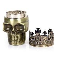 Punk Ghost Head Skull Style Plastic Tobacco Grinder Herbal H