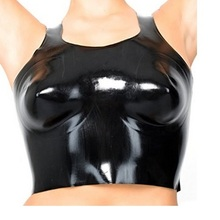 Латекс костюмы жилет с поясом боди носить большой груди сексуальный бюстгальтер