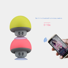 Portable Mini Bluetooth Speaker Mushroom Shape loudspeaker 3D Sound Box with Mic & Sucker for Android/IOS phone xiaomi iphone